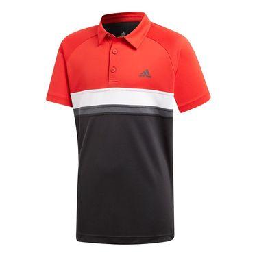 adidas Boys Club Color Block Polo - Black