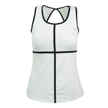 Eleven Diamond Double Back Tank - White