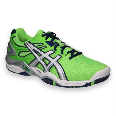 Asics Gel Resolution 5 Mens Tennis Shoe-Neon Green/Lightning/Navy
