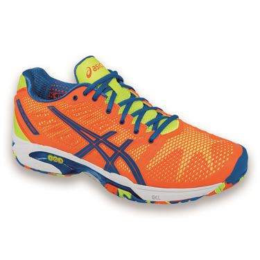 Asics Gel Solution Speed 2 Mens Tennis Shoe-Flash Orange/Blue/Flash Yellow