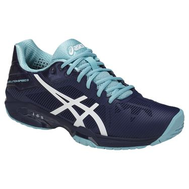 Asics Gel Solution Speed Womens Tennis Shoe - Indigo Blue/White/Porcelain Blue