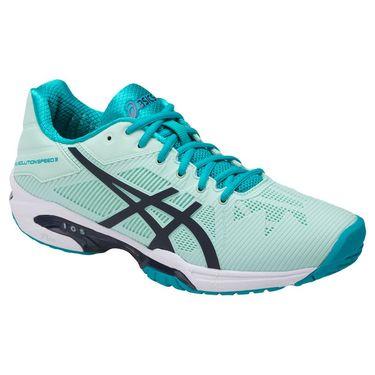 Asics Gel Solution Speed 3 Womens Tennis Shoe  Glacier/Indigo Blue/Aqua
