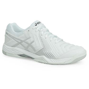 Asics Gel Game 6 Mens Tennis Shoe - White/Silver