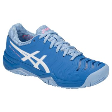 Asics Gel Challenger 11 Womens Tennis Shoe - Electric Blue/White