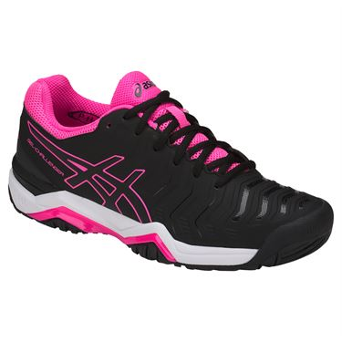 Asics Gel Challenger 11 Womens Tennis Shoe - Black/Hot Pink