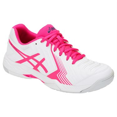Asics Gel Game 6 Womens Tennis Shoe - White/Pink Glo