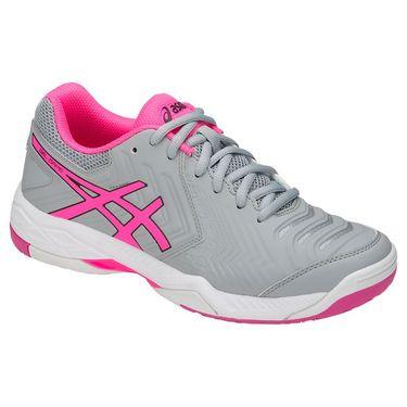 Asics Gel Game 6 Womens Tennis Shoe - Mid Grey/Hot Pink/White