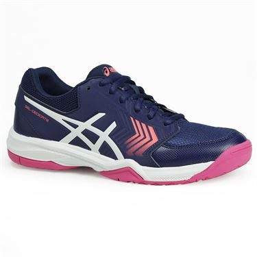 Asics Gel Dedicate 5 Womens Tennis Shoe - Indigo Blue/White/Diva Pink