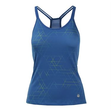 Solfire Ombre Tangram Double Up Tank - Turkish Blue