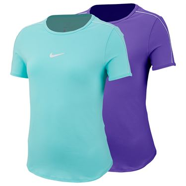 Nike Girls Court Dri Fit Short Sleeve Top