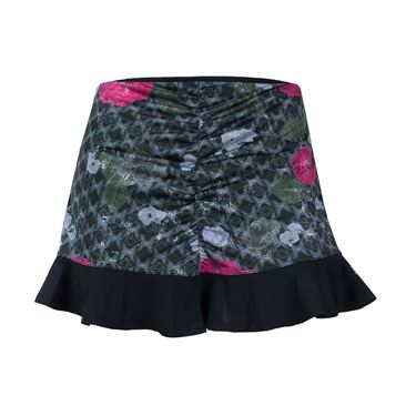 Eleven Floral Brocade 13 Inch Recoil Skirt - Print