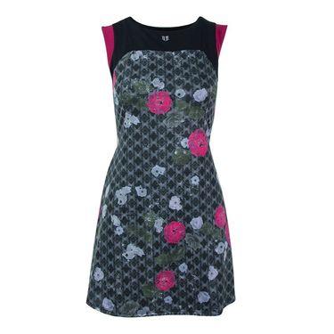 Eleven Floral Brocade Pelisse Dress - Print