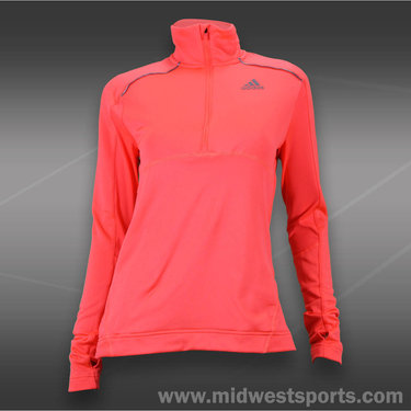 adidas Tech Fit 1/2 Zip-Red Zest