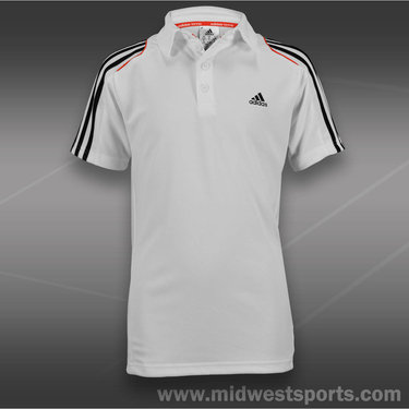 adidas Boys Response Polo-White