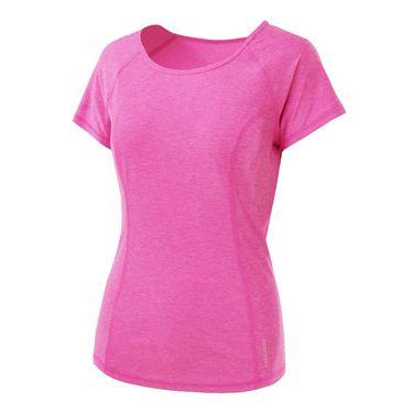 Head Prime Raglan Short Sleeve Top - Hot Pink Heather