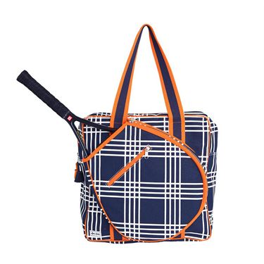 Ame & Lulu Icon Abbey Plaid Tennis Bag