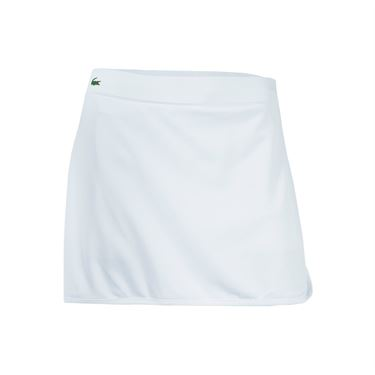 Lacoste Technical Jersey Drawstring Skirt - White/Buttercup/Apricot