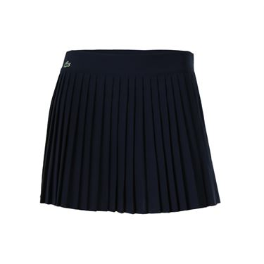 Lacoste Technical Solid Pleated Skirt - Navy Blue