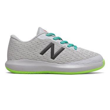 New Balance 996v4 Junior Tennis Shoe - Grey/Lime