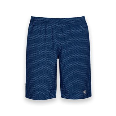 DUC Diamond Daze Printed Tennis Short - Navy Blue