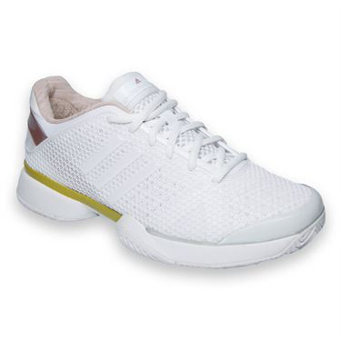 adidas Barricade 8 Stella McCartney Womens Tennis Shoes-White/Super Yellow