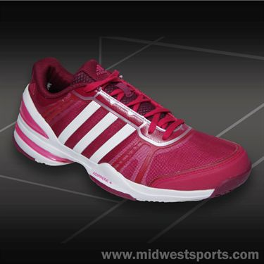 adidas CC Rally Comp Womens Tennis Shoes-Pink/White/Tribe Red