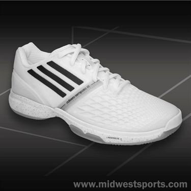 adidas CC adiZero Tempaia III Womens Tennis Shoes-White/Black/Silver