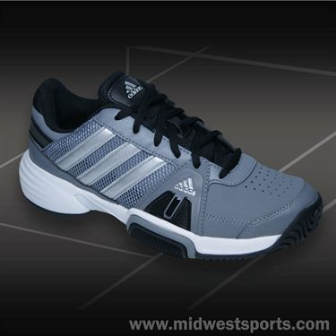 adidas Barricade Team 3 Junior Tennis Shoe-Grey/Silver/Black, M21023