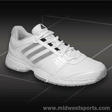 adidas Barricade Team 3 Womens Tennis Shoes-White/Black/Light Green