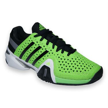 adidas Barricade 8+ Mens Tennis Shoe-Green/Black/Grey