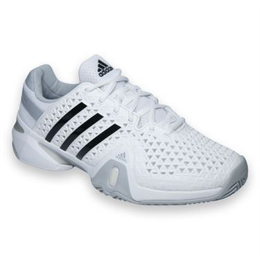 adidas Barricade 8+ Mens Tennis Shoe-White/Black/Onix