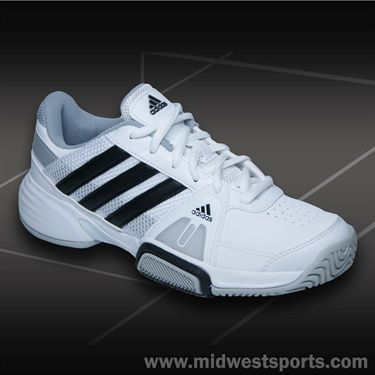 adidas Barricade Team 3 Junior Tennis Shoe-White/Black/Onix, M25391
