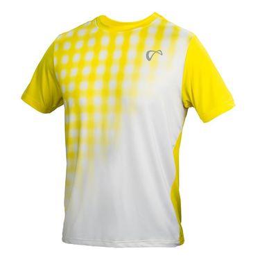 Athletic DNA Mesh Yoke Racket Crew - White/Buttercup