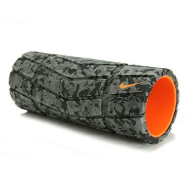 Nike Textured Foam Roller 13 inch - Grey/Black/Bright Citrus