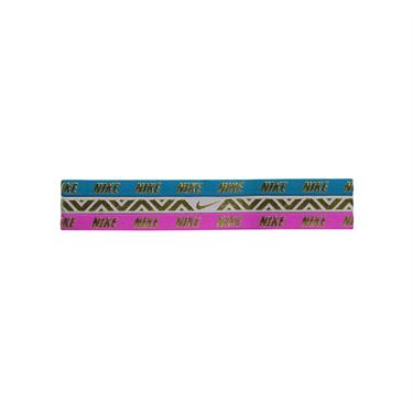 Nike Metallic Hairband 3 Pack - Aqua/Rose/Magenta