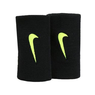 Nike Tennis Premier Doublewide Wristband - Black/Volt