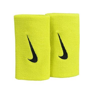 Nike Premier Doublewide Wristbands - Bright Citron/Black