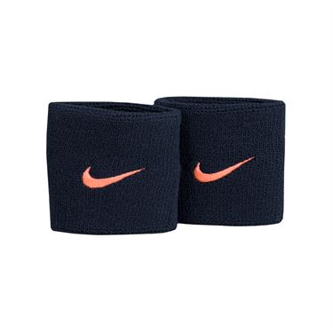 Nike Tennis Premier Wristbands - Black/Lava Glow