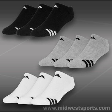 Adidas Cushioned 3-Pack No Show Sock (Mens)