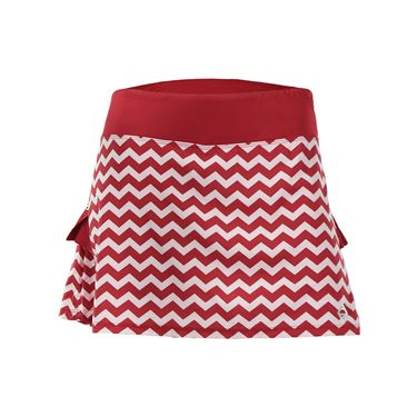 AdEdge Back Pleated Woven Skirt - Red