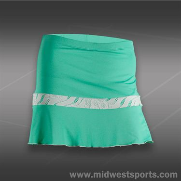 Denise Cronwall Calypso Flounce Skirt-Green
