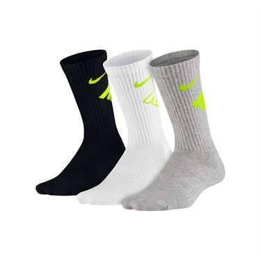 Nike Boys Performance Cushion Crew 3 Pack Sock - Multi Color
