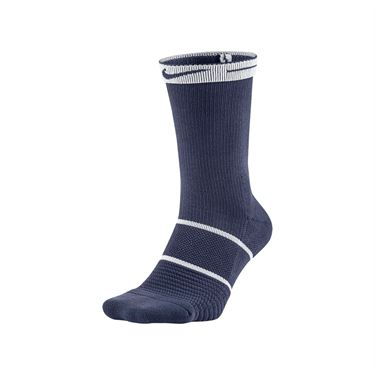 Nike Court Essentials Crew Tennis Sock - Blue Recall/White