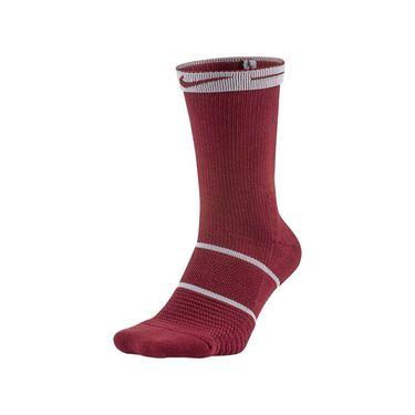 Nike Court Essentials Crew Tennis Sock - Team Red/Black