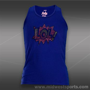 Lucky in Love Girls Racerback Tank-Royal Blue