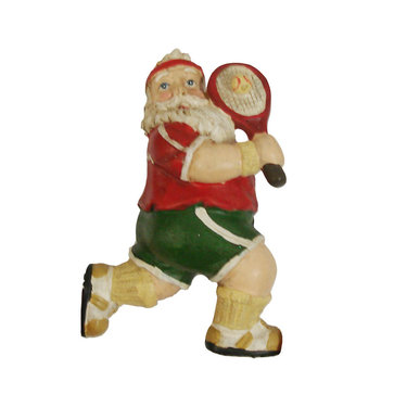 Tennis Ornament - Santa with Racquet