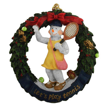 Tennis Wreath Christmas Ornament