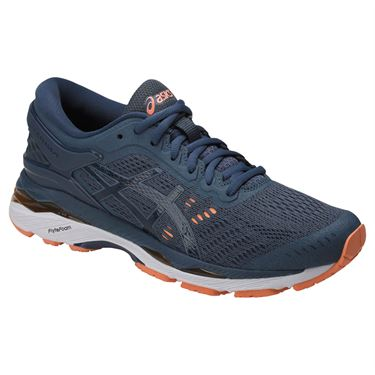 Asics Gel Kayano 24 Womens Running Shoe - Smoke Blue/Dark Blue/Canteloupe