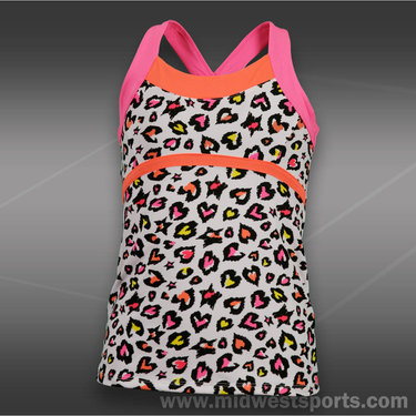 Lucky in Love Girls Rainbow Leopard Cami