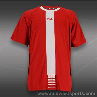Fila Boys Baseline Crew-Chinese Red